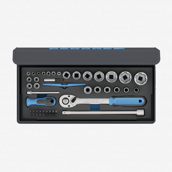 "Gedore TC 19-20-MU-10 Socket Set, 1/4"" - 1/2"", 52 pcs - KC Tool"
