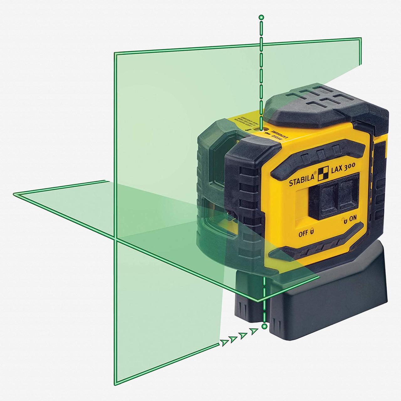 Stabila 03185 LAX 300G Green Beam Line/Dots Laser -  5 Beam Layout - KC Tool