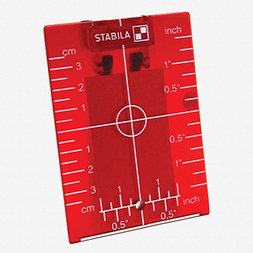 Stabila 07474 Magnetic Ceiling Target Plate, Red - KC Tool