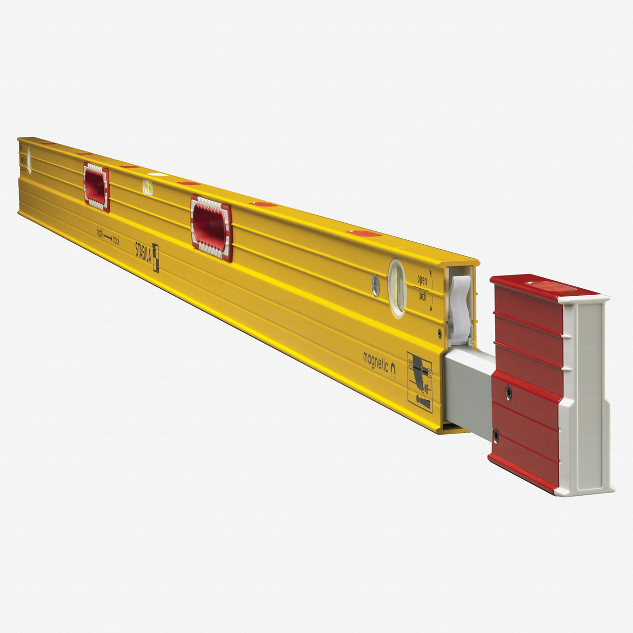 Stabila 34712 Type 106TM Magnetic Extendable Plate Level, 7'-12' - KC Tool