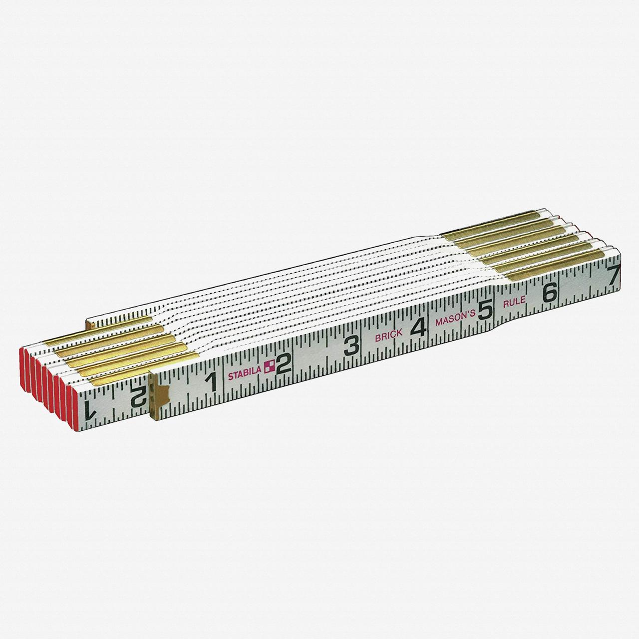 Stabila 80001 Type 600 Mason's Folding Ruler - KC Tool