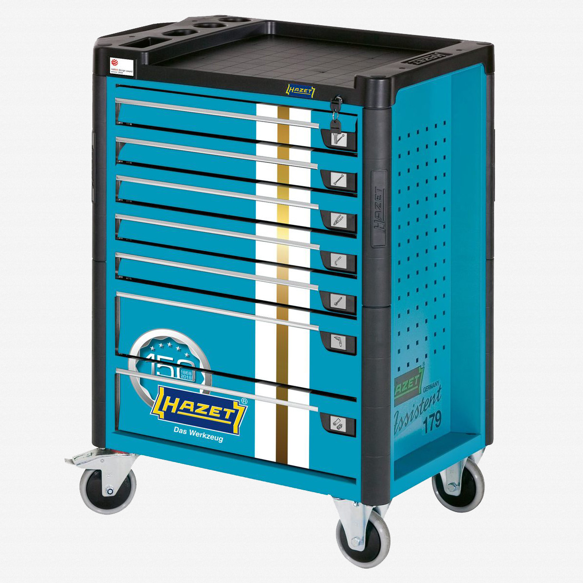 Hazet 179-7J 150th Anniversary Limited Edition Tool Trolley - Blue - KC Tool
