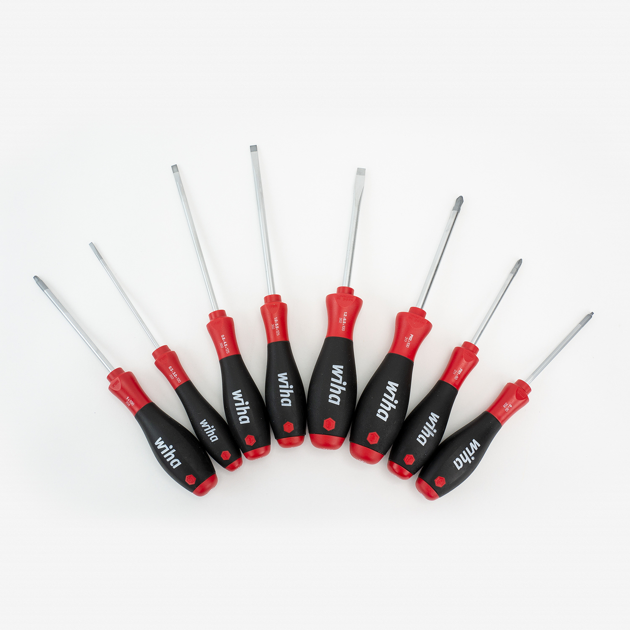 Wiha 30289 Slotted/Phillips/Square SoftFinish 8 Piece Screwdriver Set - KC Tool