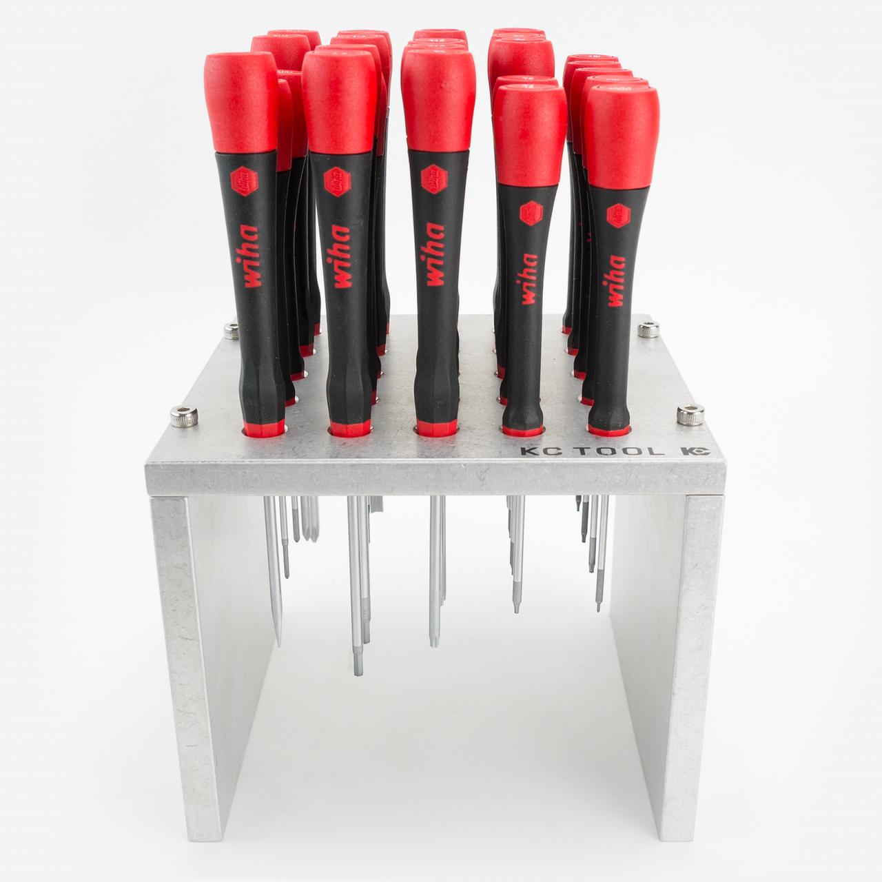 Wiha 26091 PicoFinish Precision Screwdriver Set w/ KC Tool Stand, 25 Pieces - KC Tool