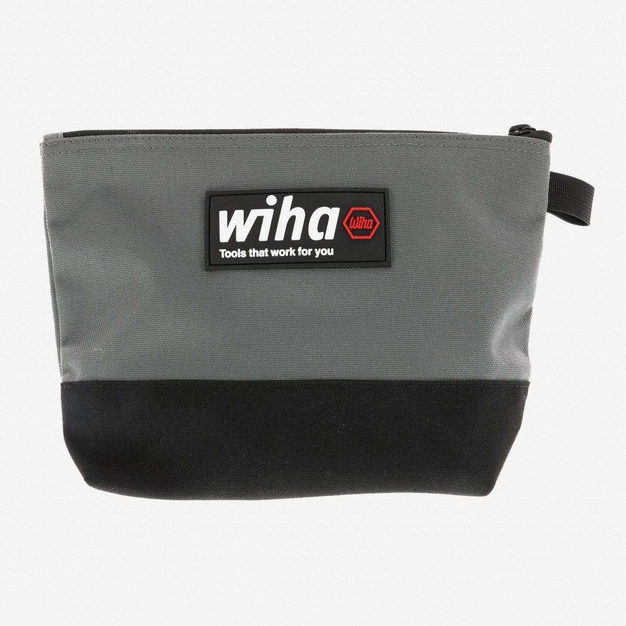 Wiha 91473 General Purpose Zipper Bag, Black/Grey - KC Tool