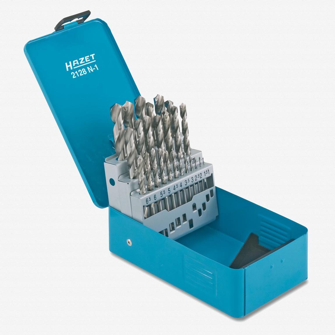 Hazet 2128N-1 HSS Twist Drill Bits in Case, 25 pcs - KC Tool
