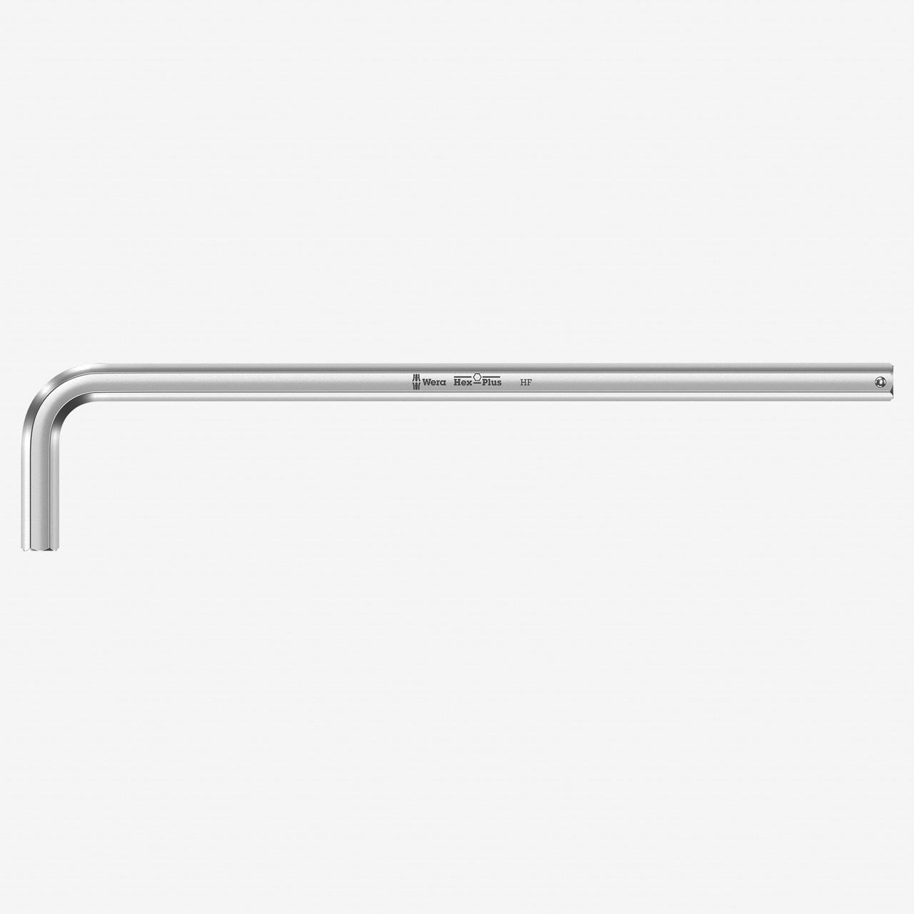 Wera 022125 Hex-Plus HF 10 x 219mm Chrome L-key - KC Tool
