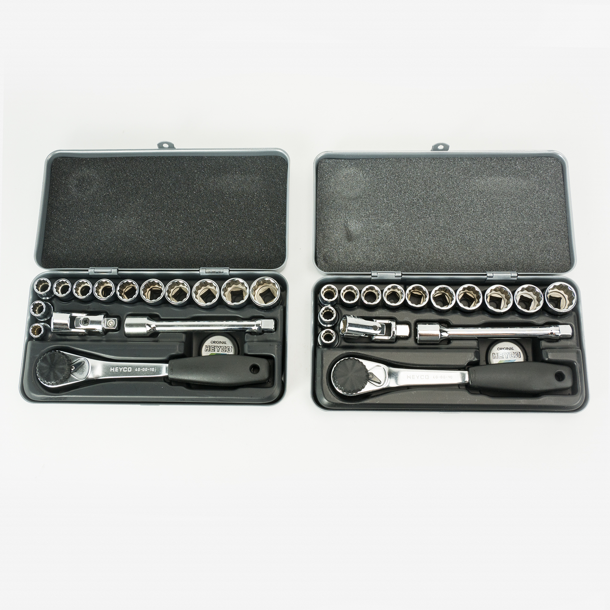 "Buy One Get One Heyco 15 Piece Metric 12 Point 3/8"" Socket Box Set, 2pcs - KC Tool"