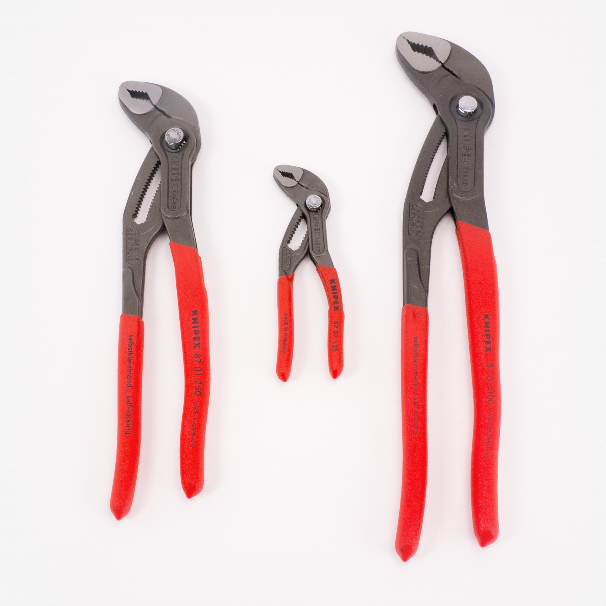 "Knipex Cobra Pliers Set, 3 Pieces - 5"", 10"", and 12"" - KC Tool"