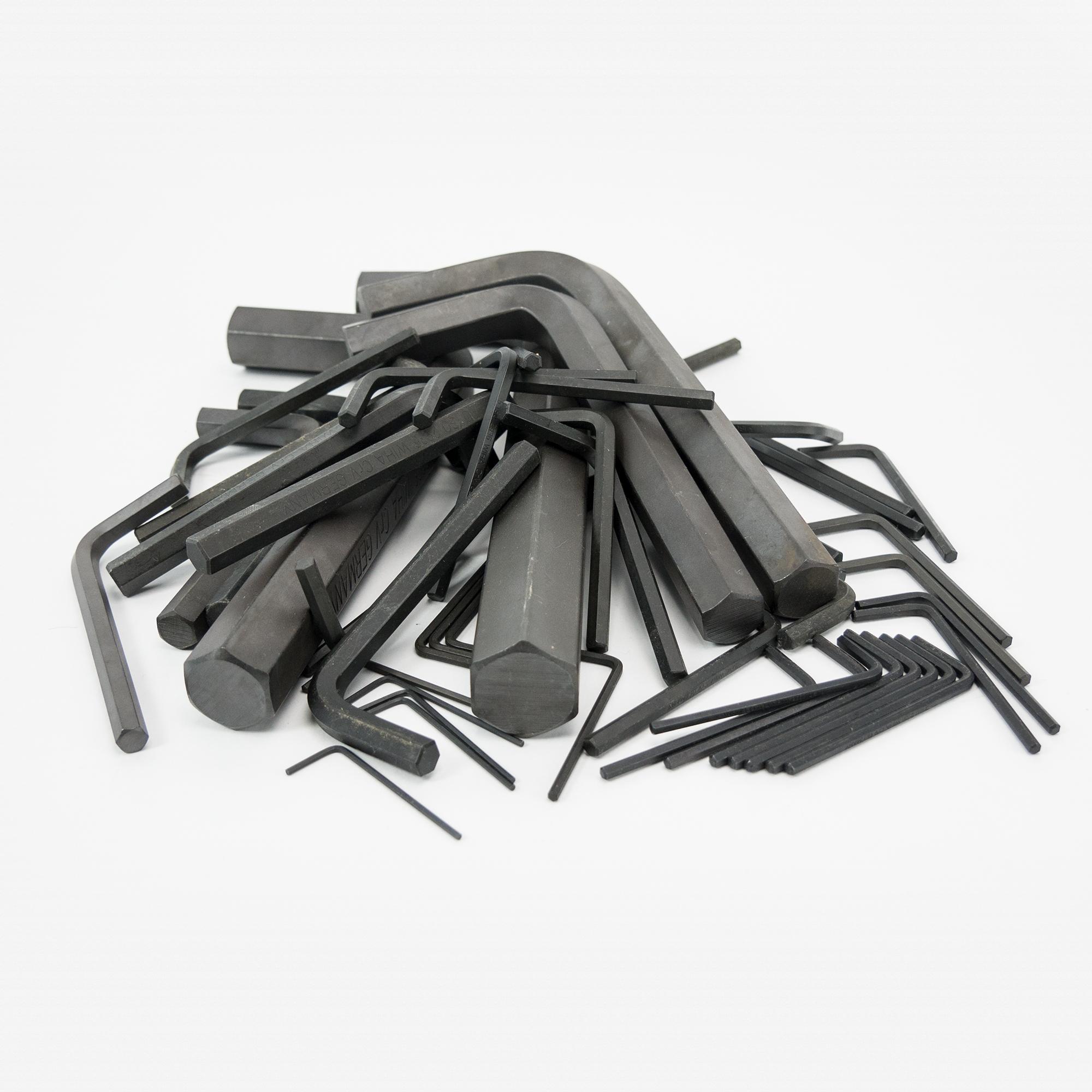 KC Tool Clearance Metric/SAE L-key Set, 47 Pieces - KC Tool