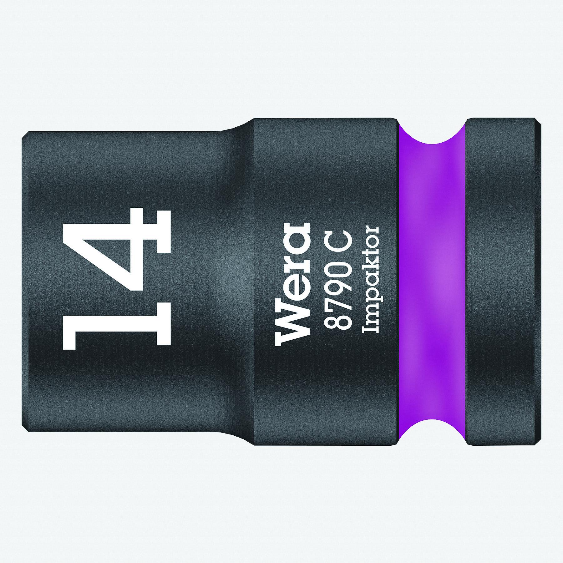 """Wera 004571 Impact Socket, 14 x 1/2"""" - KC Tool"""