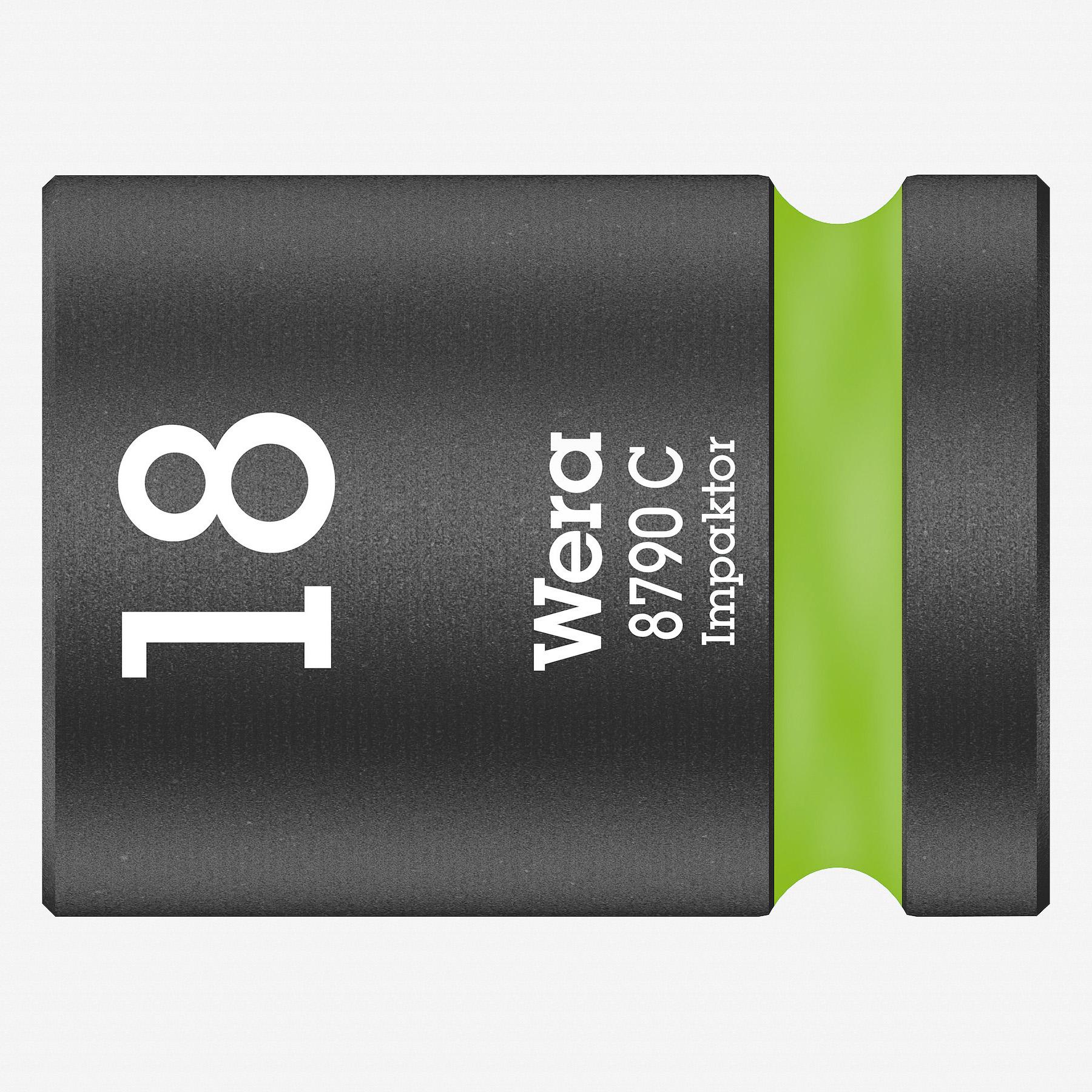 """Wera 004575 Impact Socket, 18 x 1/2""""  - KC Tool"""