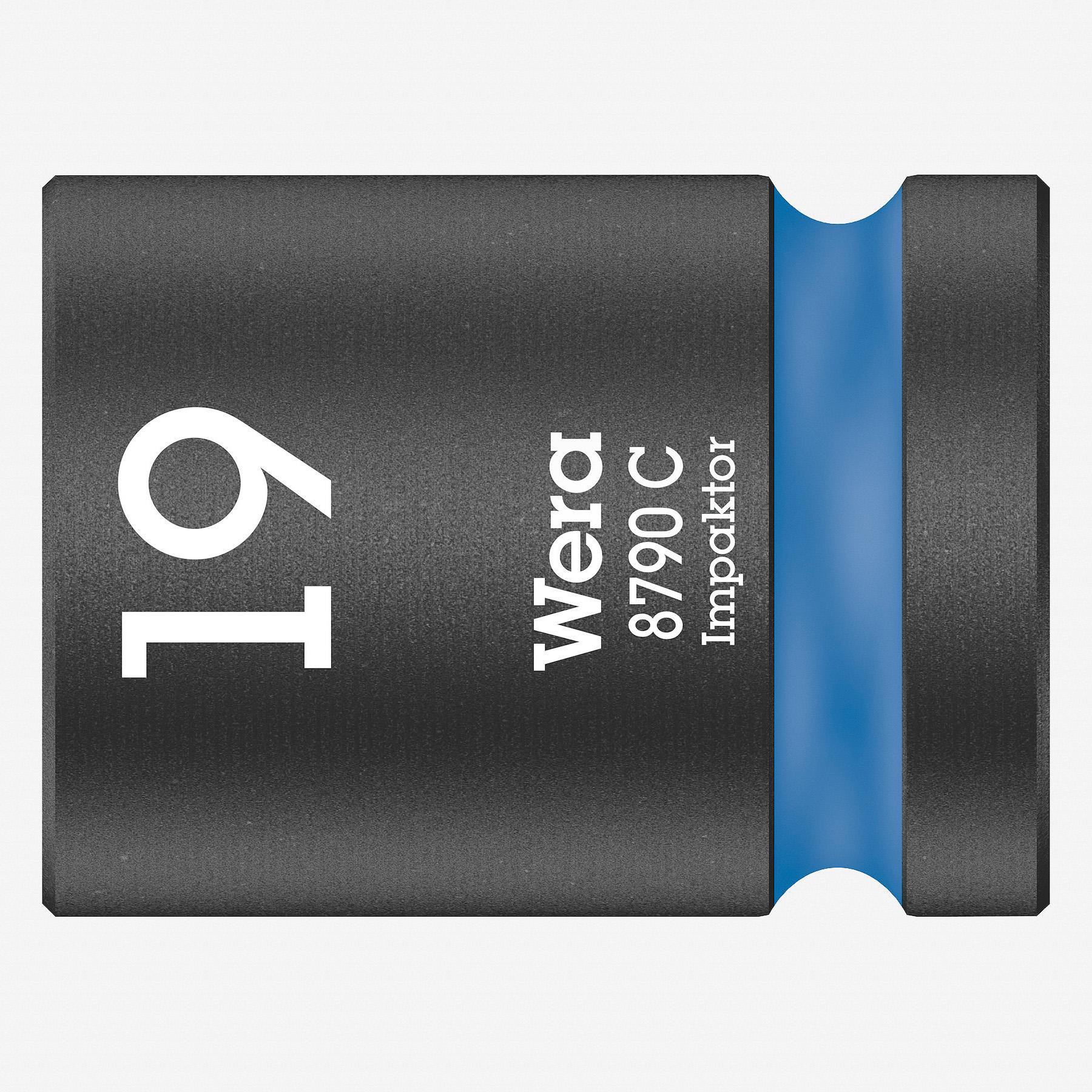 """Wera 004576 Impact Socket, 19 x 1/2"""" - KC Tool"""