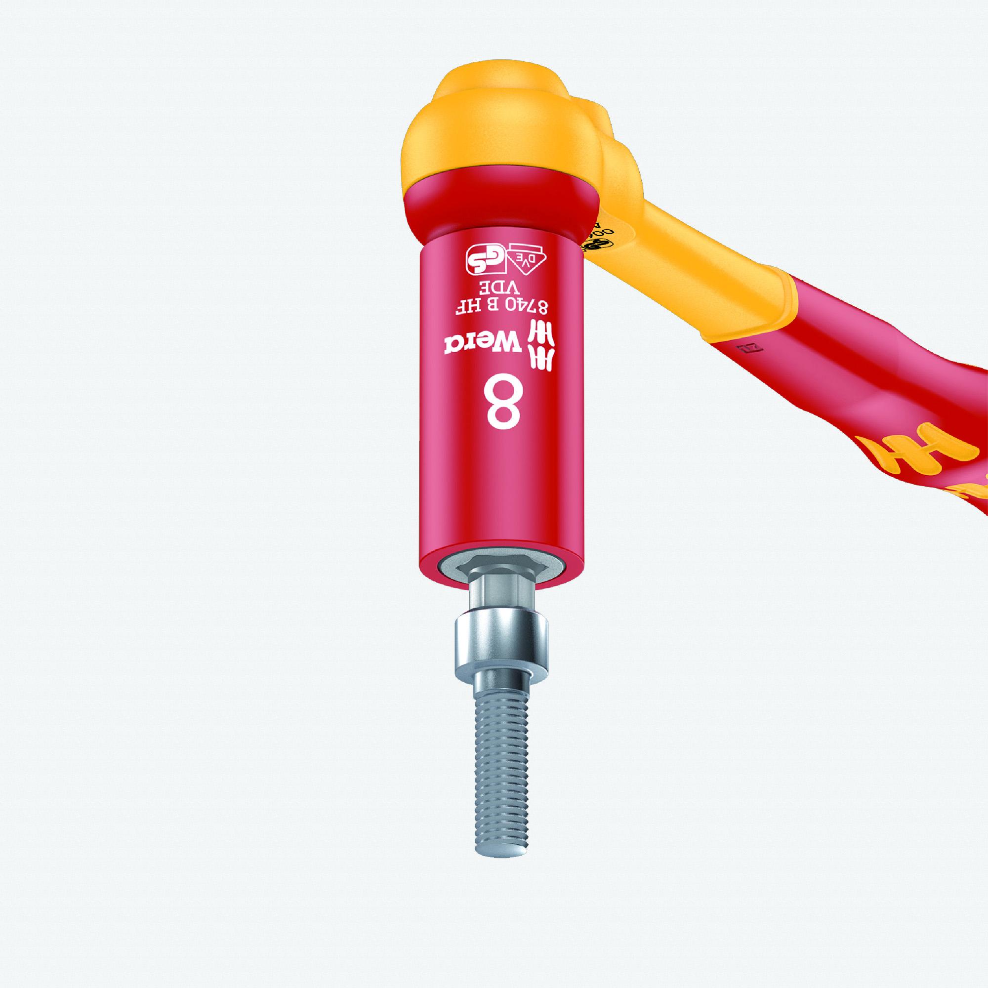 "Wera 004903 VDE HF Hex Bit 3/8"" Drive Socket, 8.0 mm - KC Tool"