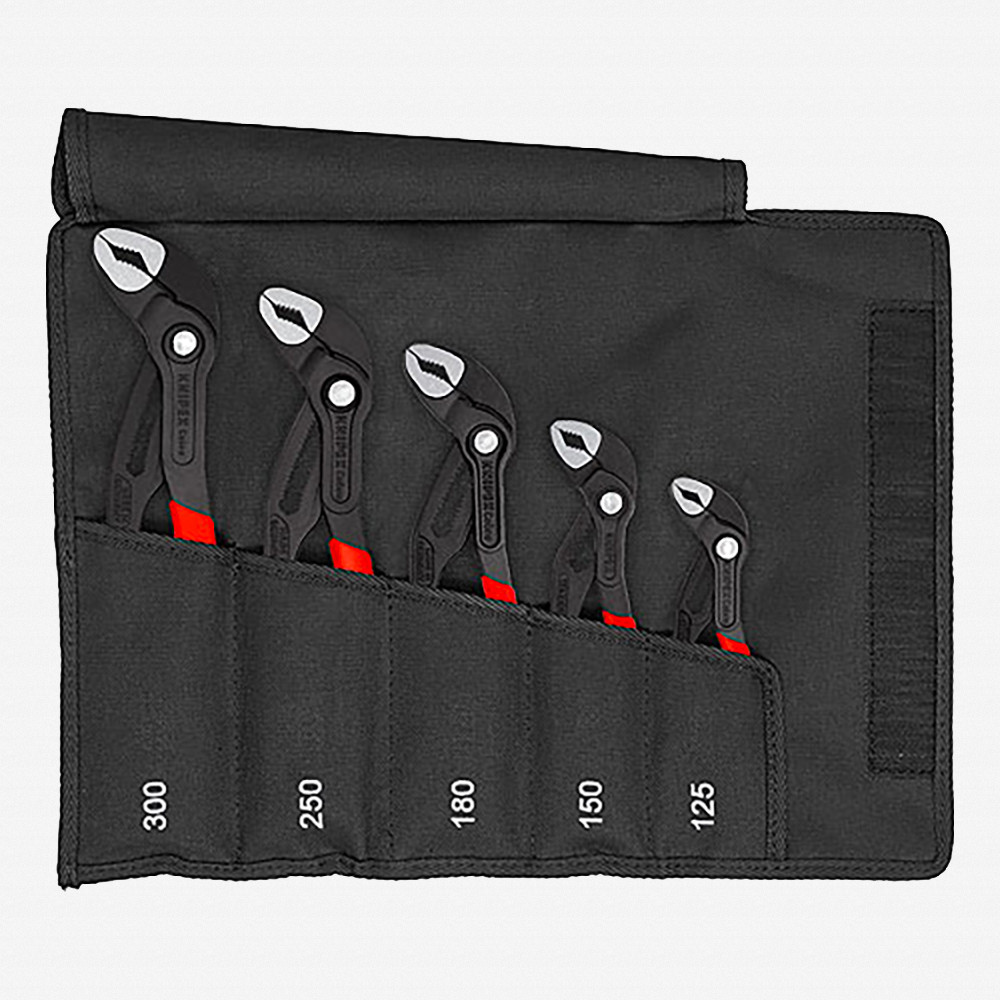 Knipex 00-19-55-S5 5 Piece Cobra Set with Tool Roll - KC Tool