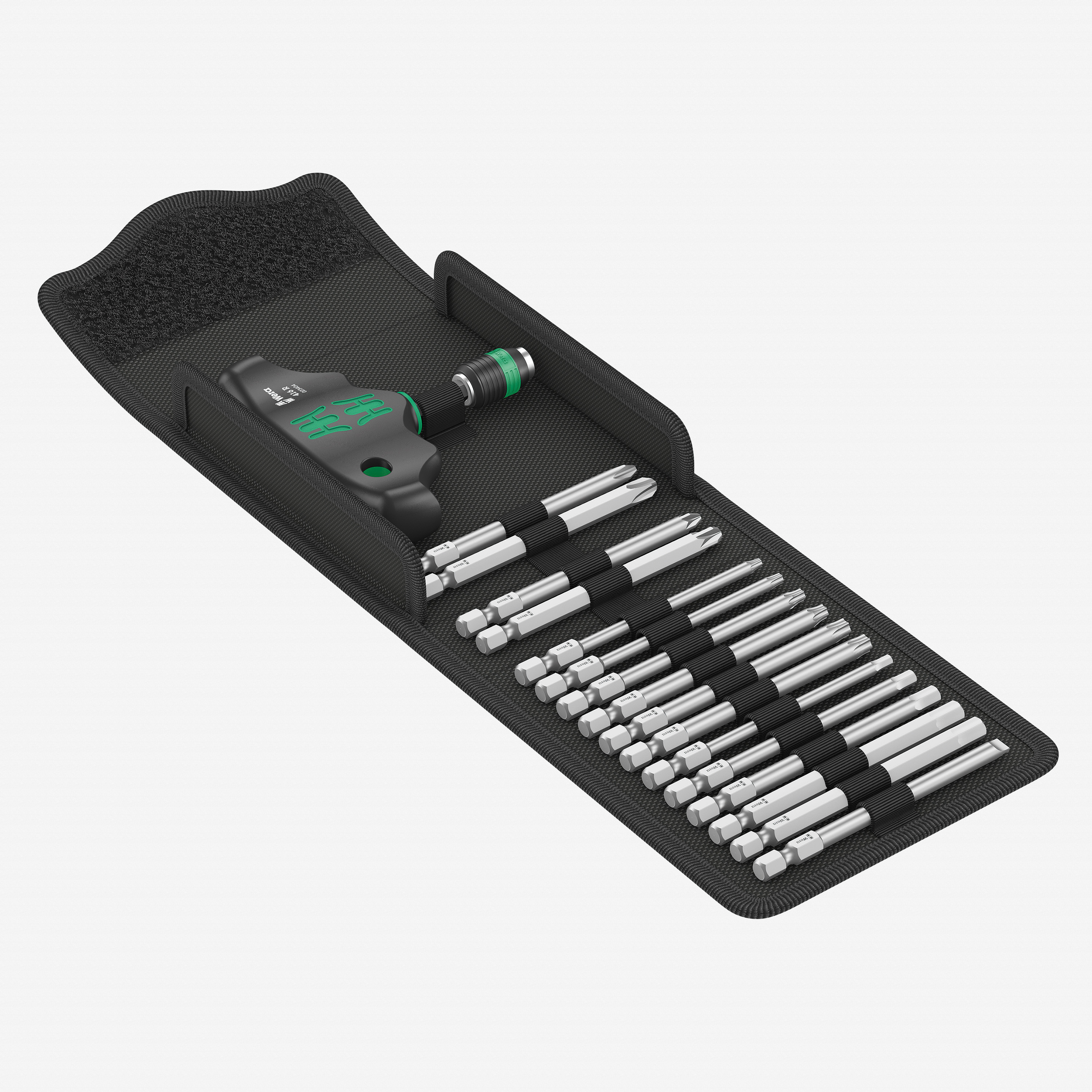 Wera 057470 T-Handle with Rapidaptor Blade Set, 15 Pieces - KC Tool