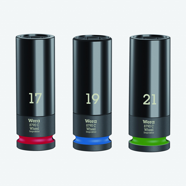 "Wera 004595 Lug Nut 1/2"" Impact Socket Set, with Plastic Sleeve, 3 Pieces (WR004595) - KC Tool"