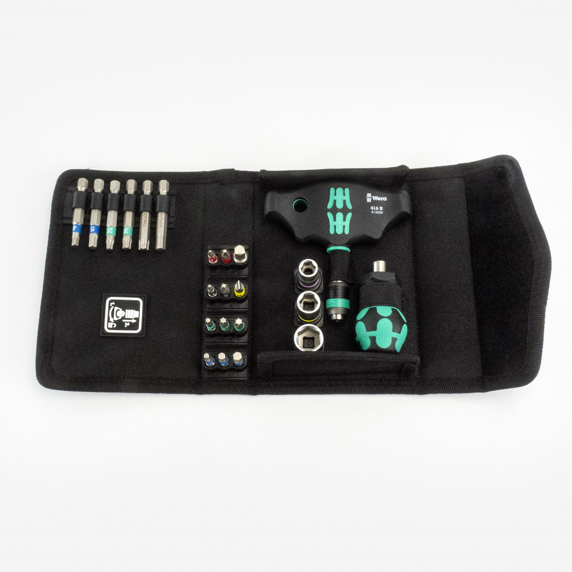 Wera 238368 Stubby/Rapidaptor T-handle Set, 23 Pieces - KC Tool