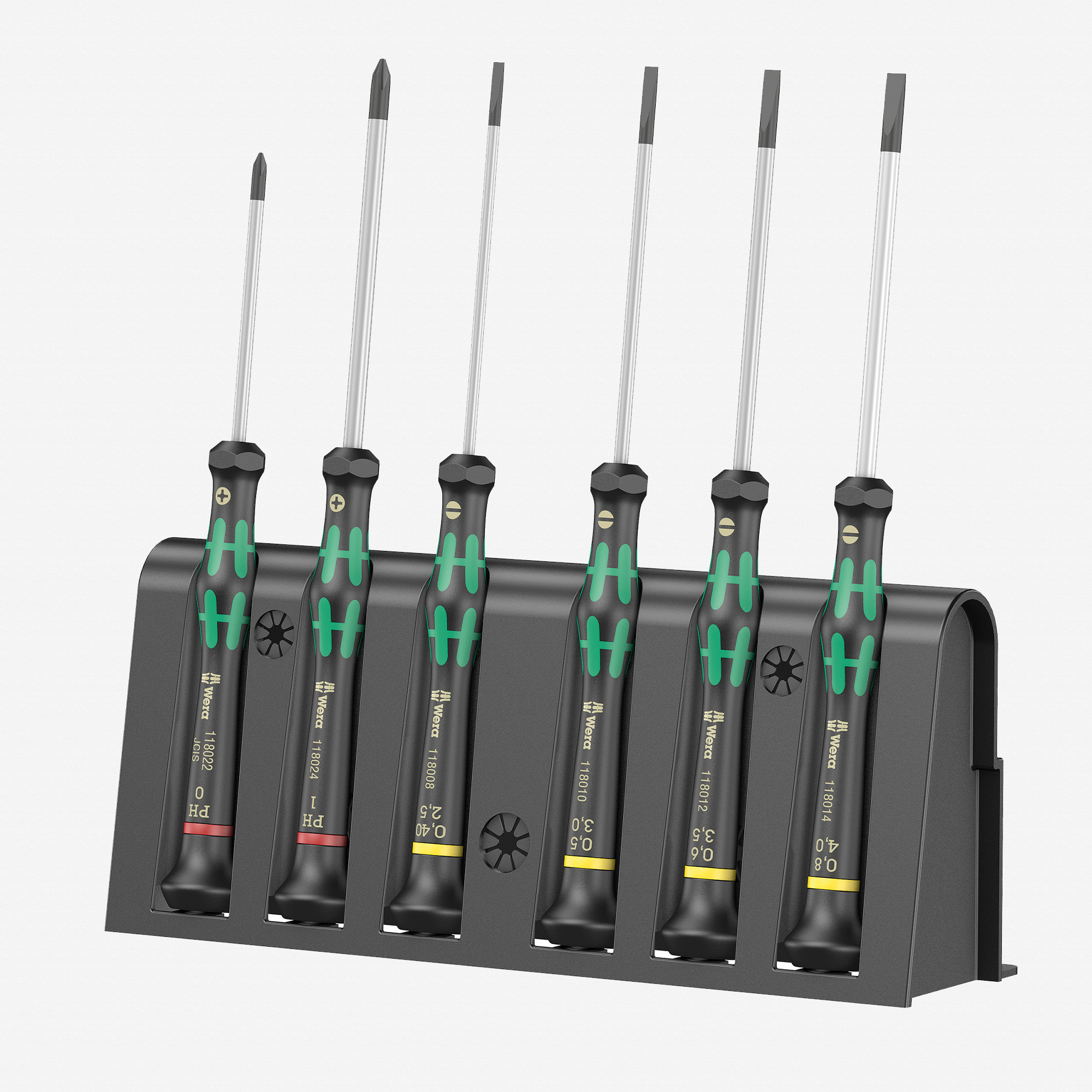 Wera 118152 Kraftform Micro Slotted/Phillips Precision Screwdriver Set + Rack (WR118152)