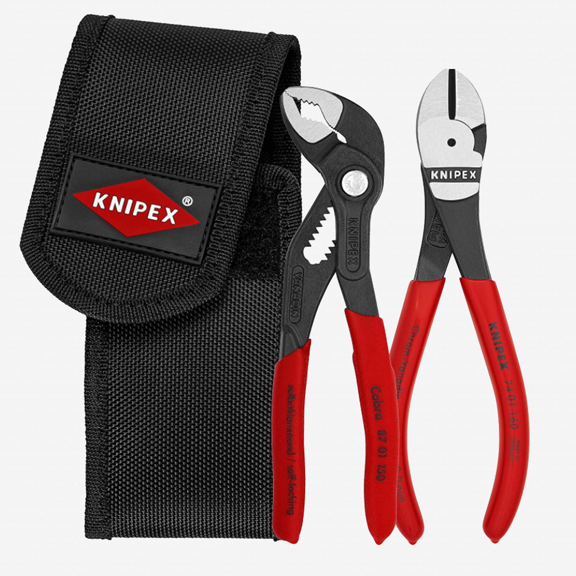 Knipex 00-20-72-V02 Mini Pliers Belt Pouch Set, 2 Pieces