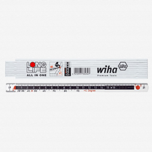 Wiha 61615 MaxiFlex Folding Ruler 2m Outside Reading w/ Depth Gauge - KC Tool