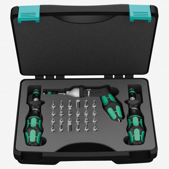 Wera 350451 2.5 - 55 in-lbs Adjustable Torque Screwdriver Set - KC Tool