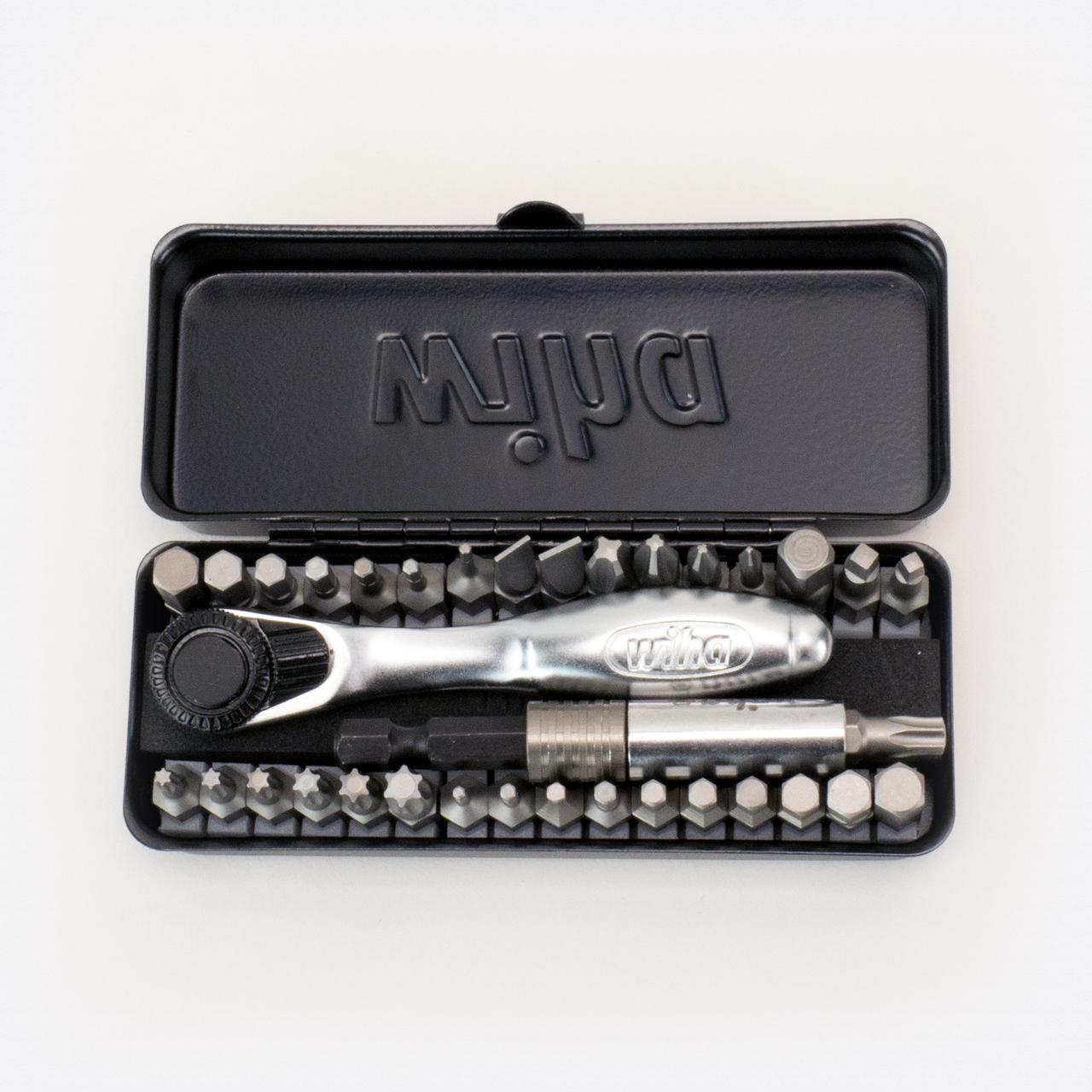 Wiha 74996 Bit Ratchet Compact Storage Box Set, 35 Pieces - KC Tool