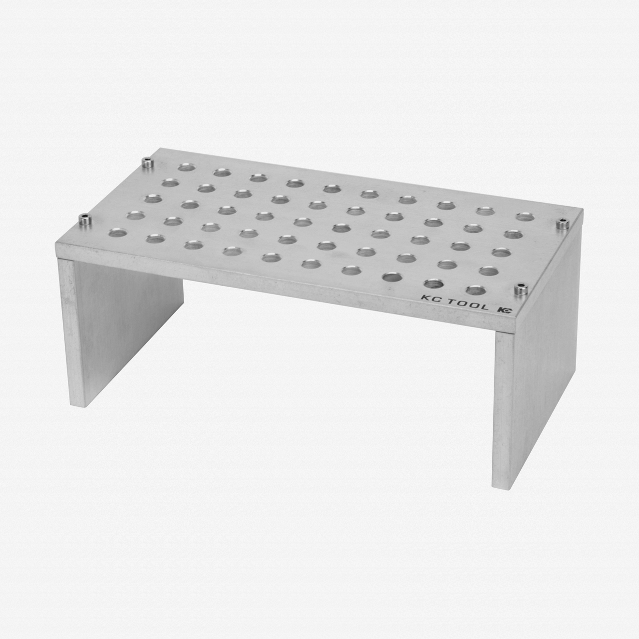 KC Tool Aluminum Bench Top Stand for Precision Tools - 50 Holes, Tumbled Finish - KC Tool
