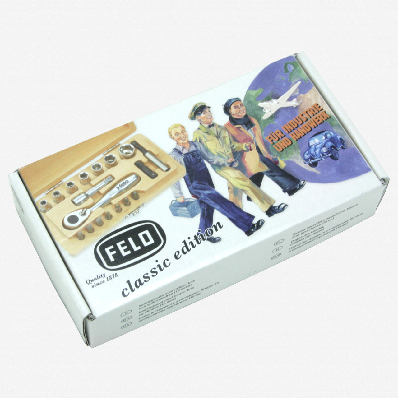 Felo 62367 XS 18 Classic 18 pc Wood Case Set - Metric - KC Tool