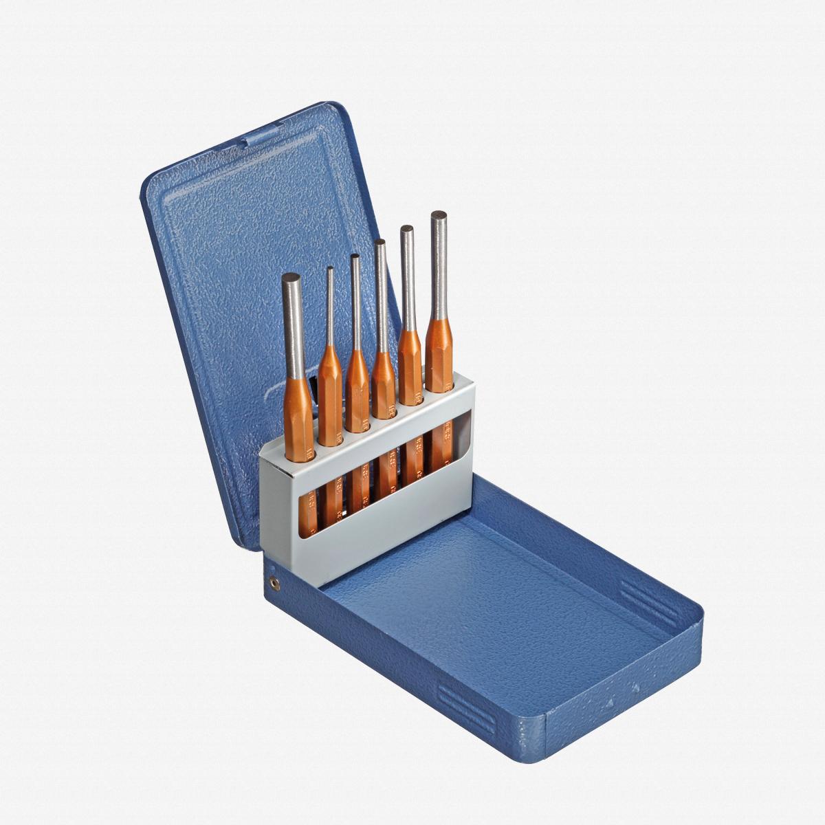 Gedore 116 D Pin punch set 6 pcs in metal case - KC Tool