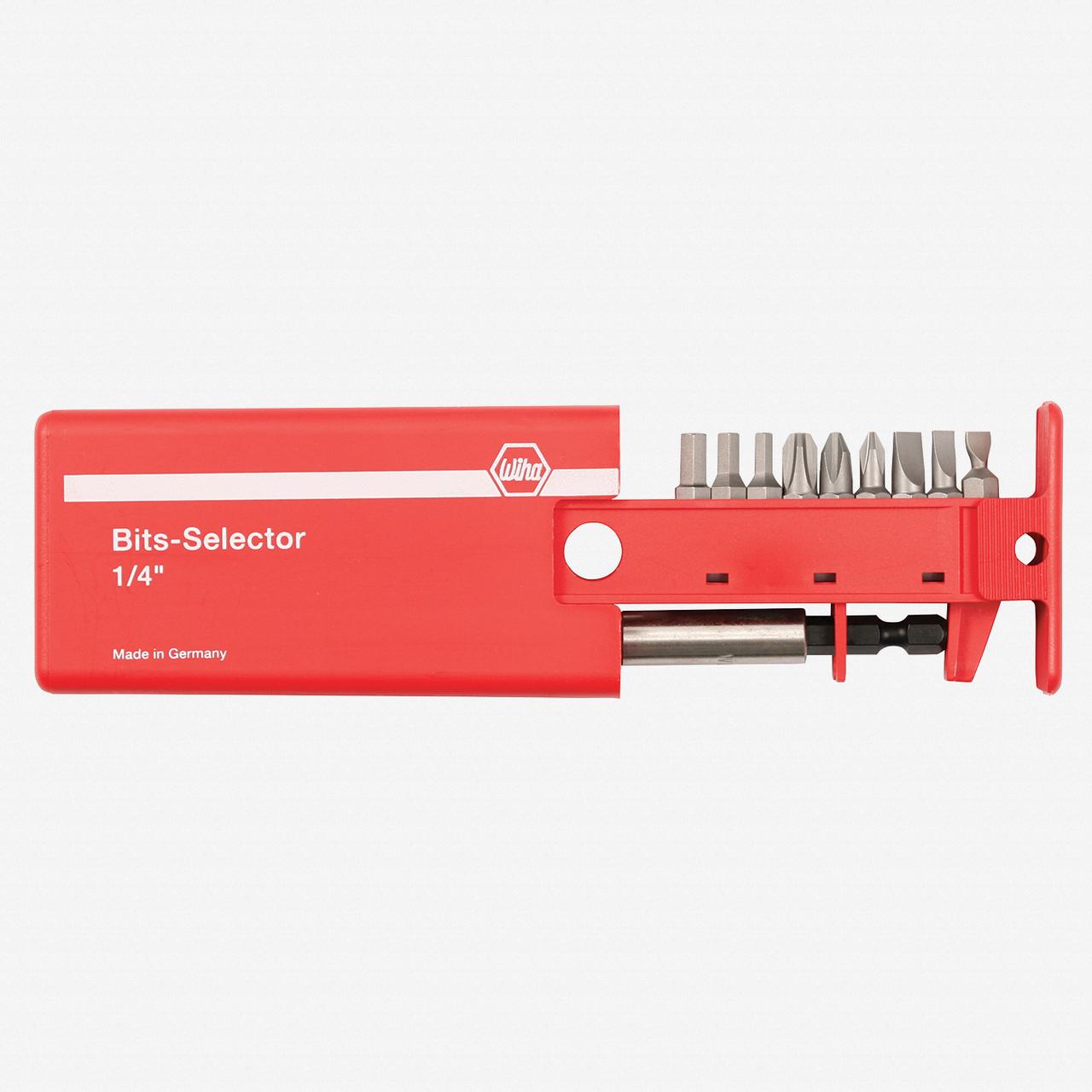 Wiha 71090 10 Piece Slotted/Phillips/Hex Bit Selector - KC Tool