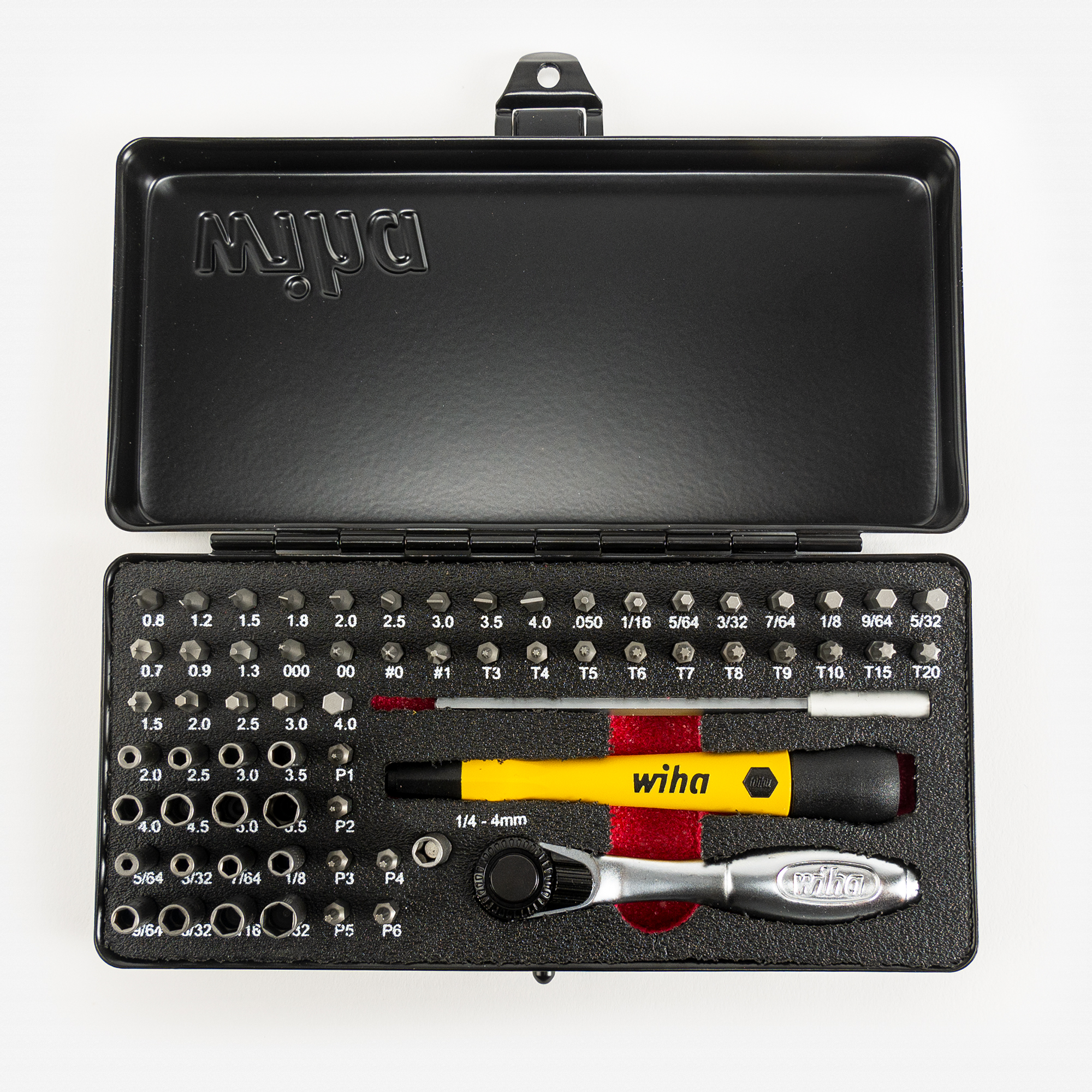 Wiha 75965 MicroBit Ratchet Set, 65 Pieces - KC Tool