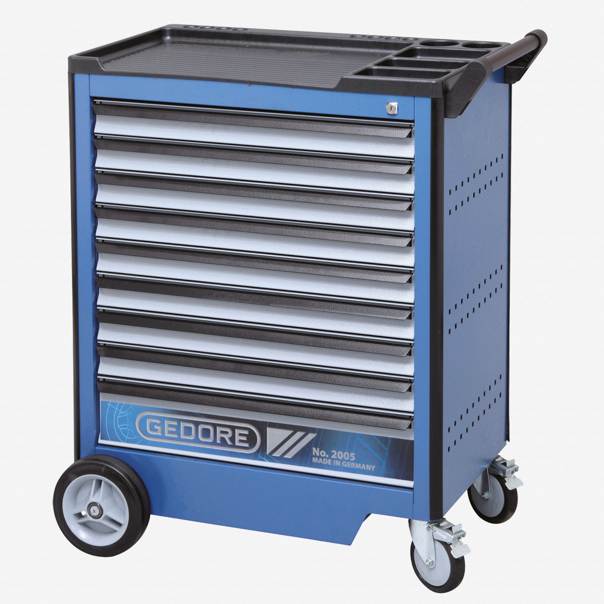 Gedore 2005 0810 Tool trolley with 9 drawers - KC Tool