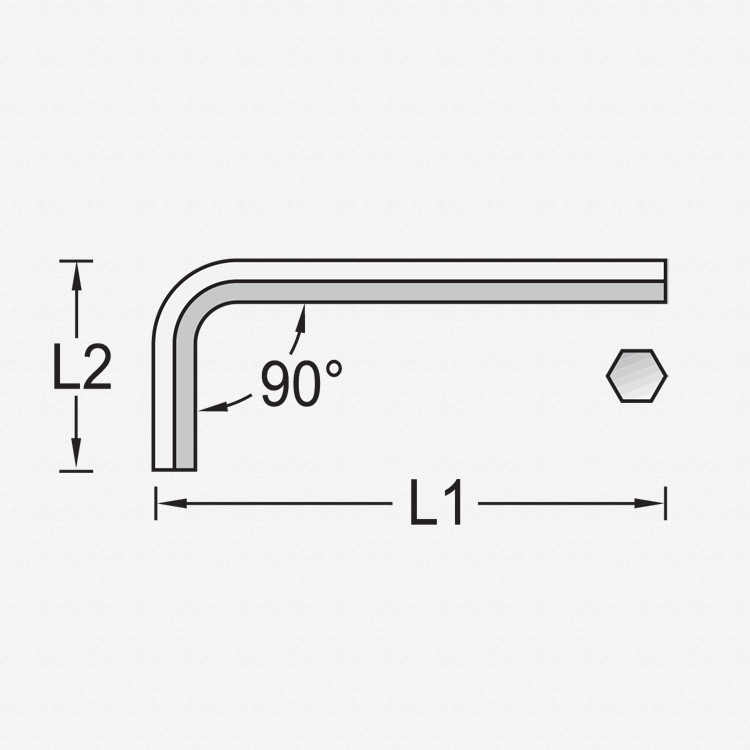 Gedore 42 0,7 Hexagon Allen key 0.7 mm - KC Tool