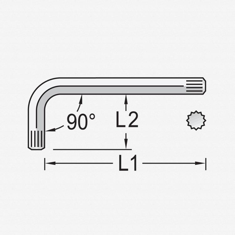Gedore 42 X 5 Cranked allen socket screwdriver XZN M5 - KC Tool