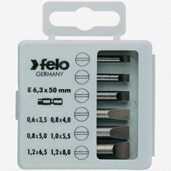 """Felo 31410 Profi Bit Box 6 Bits x 2"""" - Slotted - KC Tool"""