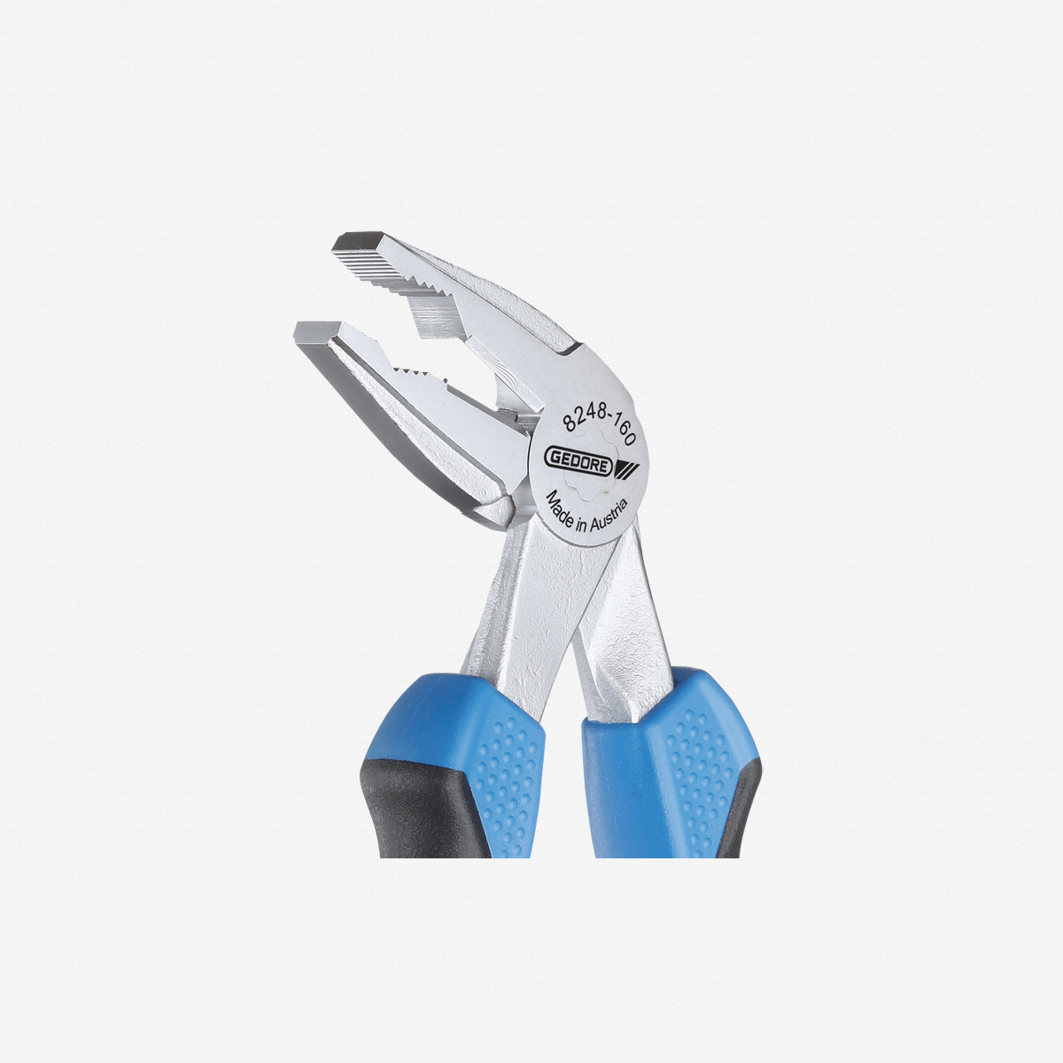 Gedore 8248-160 JC Combination pliers, angled, 160 mm - KC Tool
