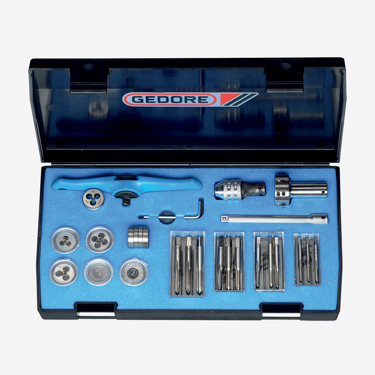 Gedore 8553 Tap and die set M3-M6 - KC Tool