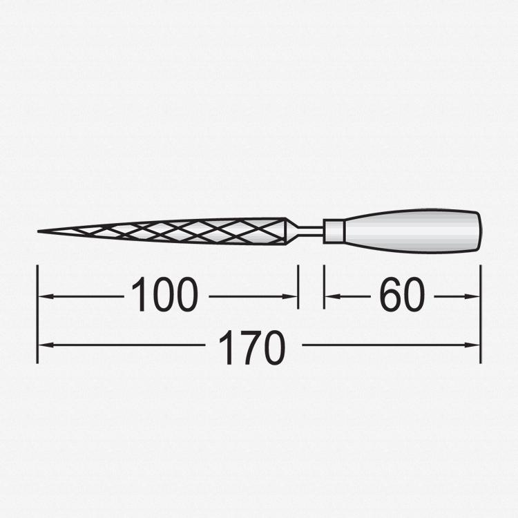 Gedore 8728 Key file set, 6 pieces - KC Tool