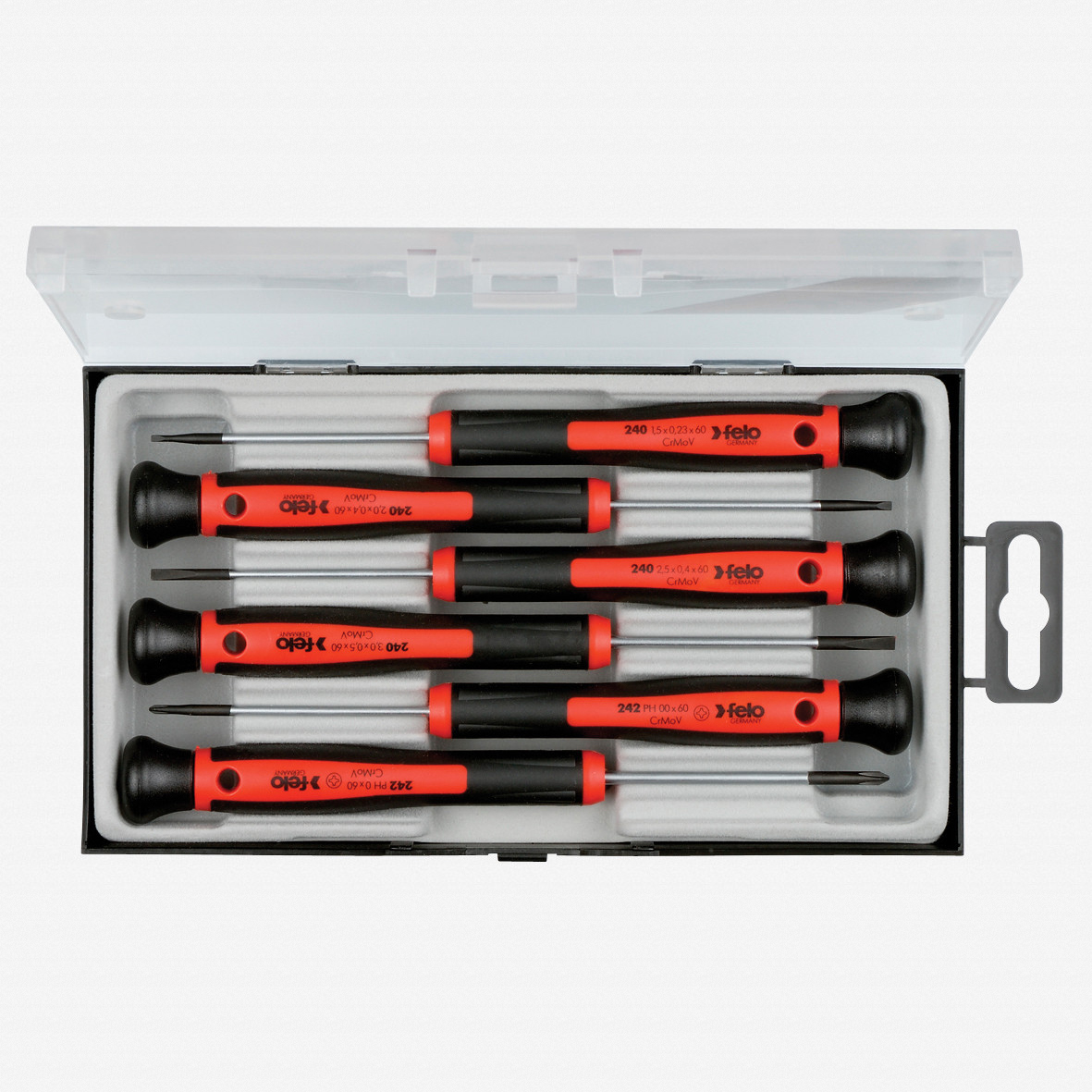 Felo 31844 6 Piece Slotted & Phillips Precision Screwdriver Set - KC Tool