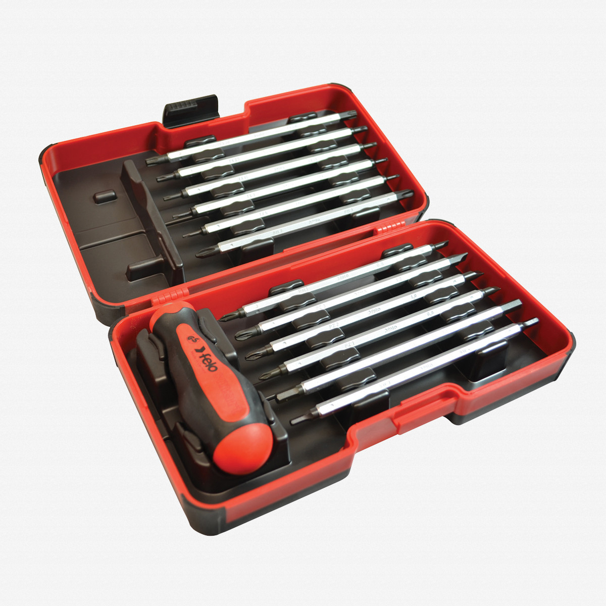 Felo 32094 13 Piece Metric Smart Box - Slotted, Phillips, Pozidriv, Hex, Torx Blades with Handle - KC Tool