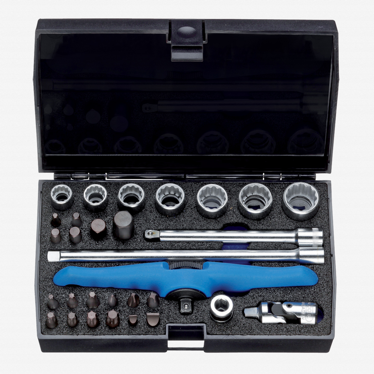 "Gedore D 20 MOT Basic Motorcycle tool set 1/4"", 30 pcs - KC Tool"