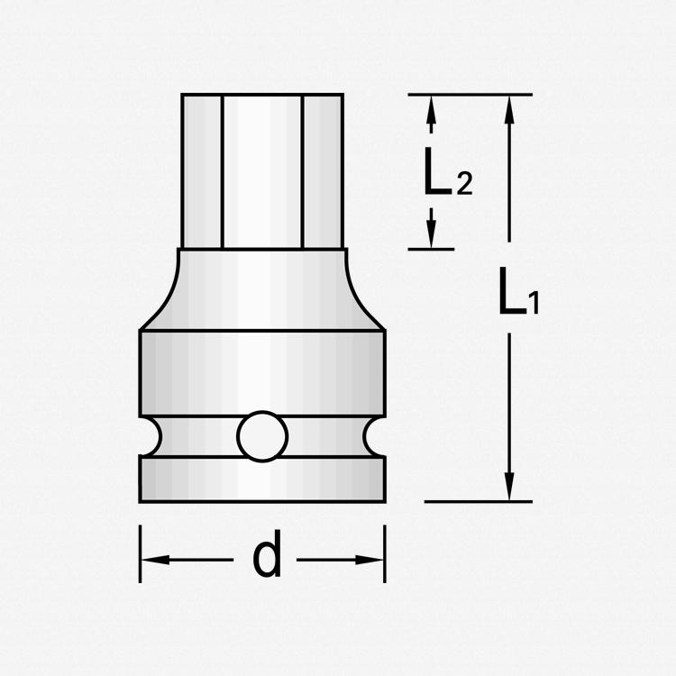 "Gedore IN K 21 19 Impact screwdriver bit socket 1"" 19 mm - KC Tool"