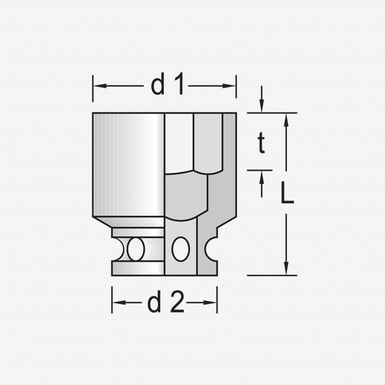 """Gedore K 20 5.5 Impact socket 1/4"""" 5.5 mm - KC Tool"""