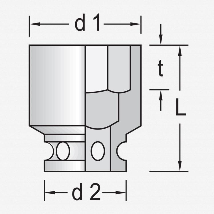 "Gedore KR 19 17 Impact socket 1/2"" 17 mm - KC Tool"