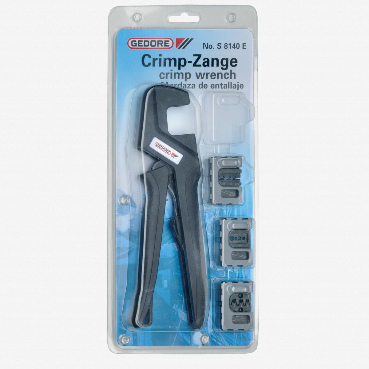 Gedore S 8140 A Crimping pliers set AUTOMOTIVE 4 pcs - KC Tool