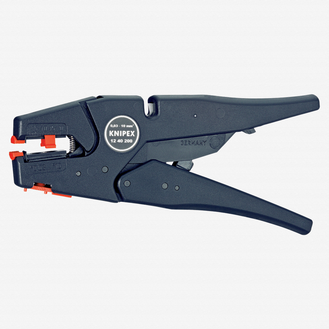 Knipex 12-40-200 Self-Adjusting Wire Insulation Strippers - AWG 32-7 - KC Tool