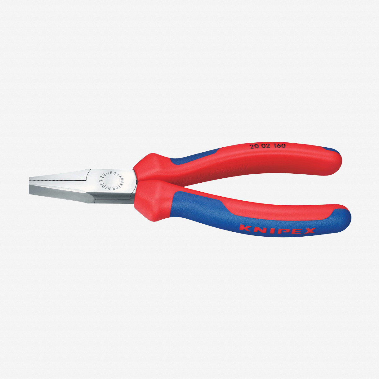"Knipex 20-02-160 6.3"" Flat Nose Pliers - MultiGrip - KC Tool"