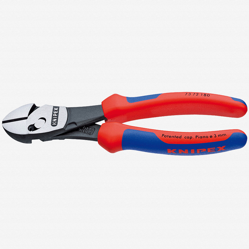 "Knipex 73-72-180 7"" Twinforce Diagonal Super Cutter - Comfort Grip - KC Tool"