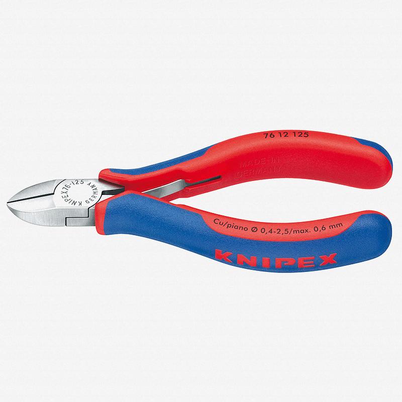 "Knipex 76-12-125 5"" Diagonal Cutters for electromechanics w/ Spring - MultiGrip - KC Tool"